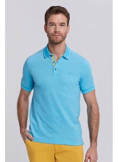 Hemington Turkuaz Basic Pike Pamuk Polo T-Shirt Turkuaz
